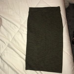 Dark Olive Pencil Skirt
